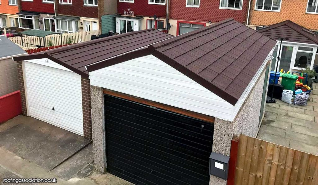 Pitched Roof Replacement for a Garage